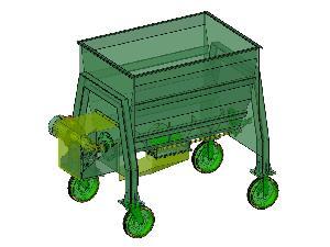 Acheter en ligne Mélangeuses automotrices horizontales Desconocida mixer (mezclador de alimento animal).  planos completos del equipo.  d'occasion